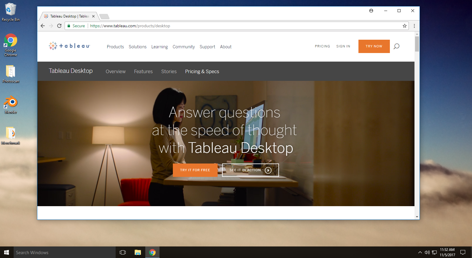 How to run Tableau on a Chromebook using Paperspace