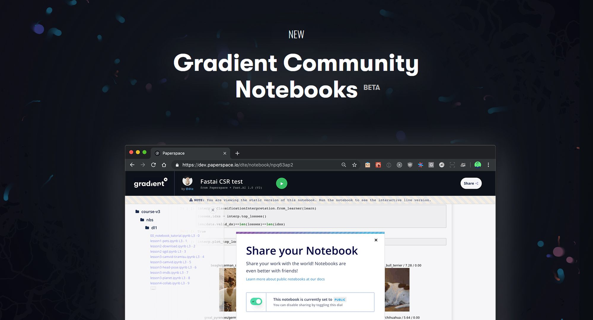 Introducing Gradient Community Notebooks: Easily Run ML Notebooks on Free GPUs
